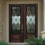: Decorative front doors with glass and iron creates an incomparable style