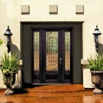 Decorative front doors with glass have an effect of an extra window