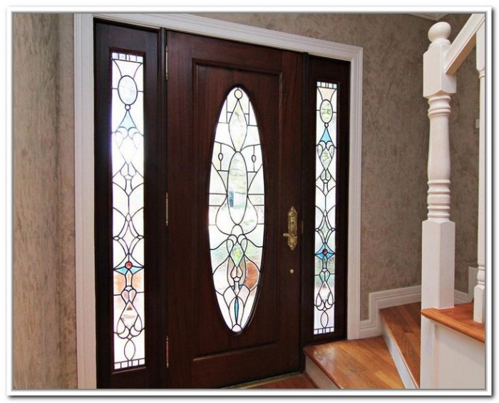 Decorative glass front entry doors are very esthetic