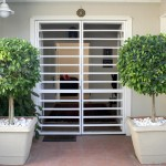 Door security shutters interior for balconies and screened enclosures