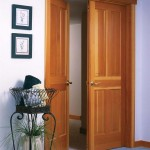 : French doors for mission style interior have create a cozy atmosphere