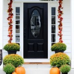 : Front door decoration ideas begin with the dimensions of the doors