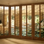 : Glass panel interior door in UK has 2, 4 or 6 panels with glass sections
