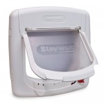 : Interior door cat flap lets your pet  feeling free coming inside and outside the room