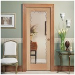 : Interior residential security door covered with polished laminate for a stylish look