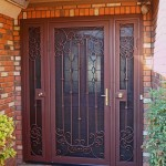 : Interior security screen doors do their job the best way protecting your privacy