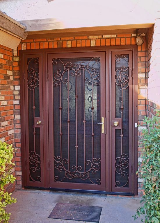 Interior security screen doors do their job the best way protecting your privacy