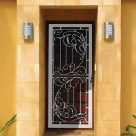 Interior security screen doors with glass inserts for a modern look