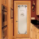 : Interior slab door frosted glass for creating unusual sophisticated interior design