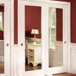 : Interior slab door with mirror is good for offices or other public premises