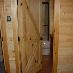 : Knotty pine interior door slabs for creating an attractive and natural look of any of your rooms