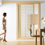 Maple and glass interior doors are chosen for living rooms