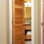 : Oak interior doors in a mission style are always held in high esteem