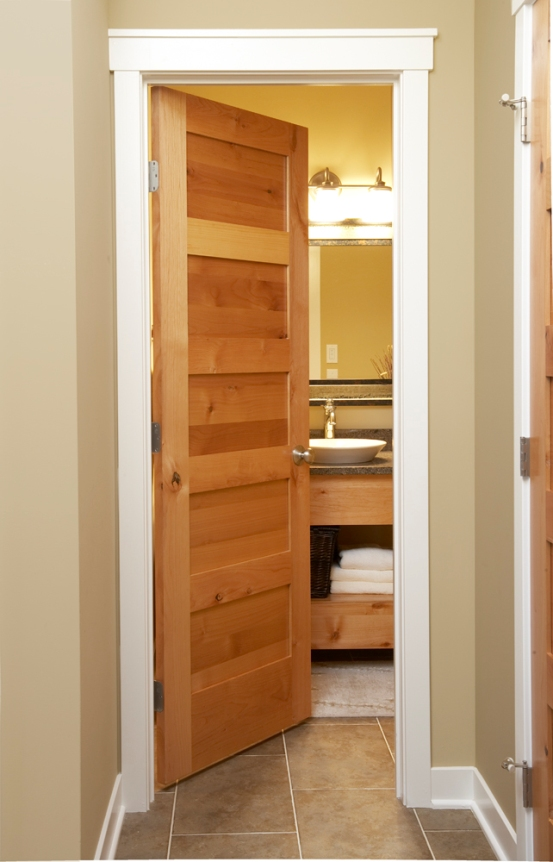 Oak interior doors in a mission style are always held in high esteem