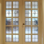 : Pine glass panel interior door is inexpensive but quality