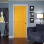 : Prehung interior doors in a mission style are perfect in case the space is limited