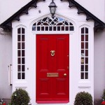 : Red entry doors for sale will fit your comfortable modern house