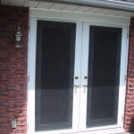 : Retractable interior screen door is the additional protection from bad weather