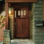 Rustic entry doors for sale are made of real hardwood – oak or cherry
