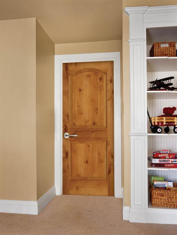 Rustic maple interior doors look stunning as you see the wooden structure