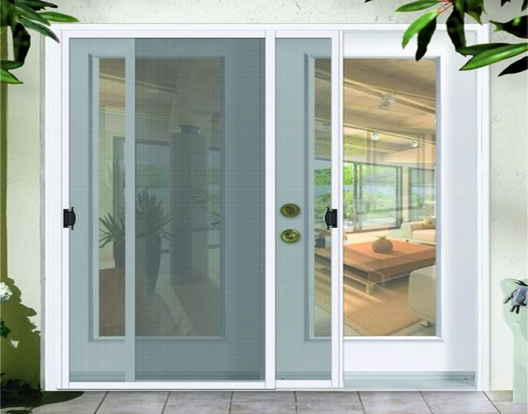 Temporary interior screen door can be installed as the cat's proof