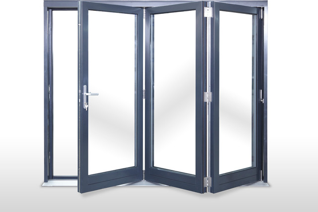 Three panel glass interior door can be chosen for a home office