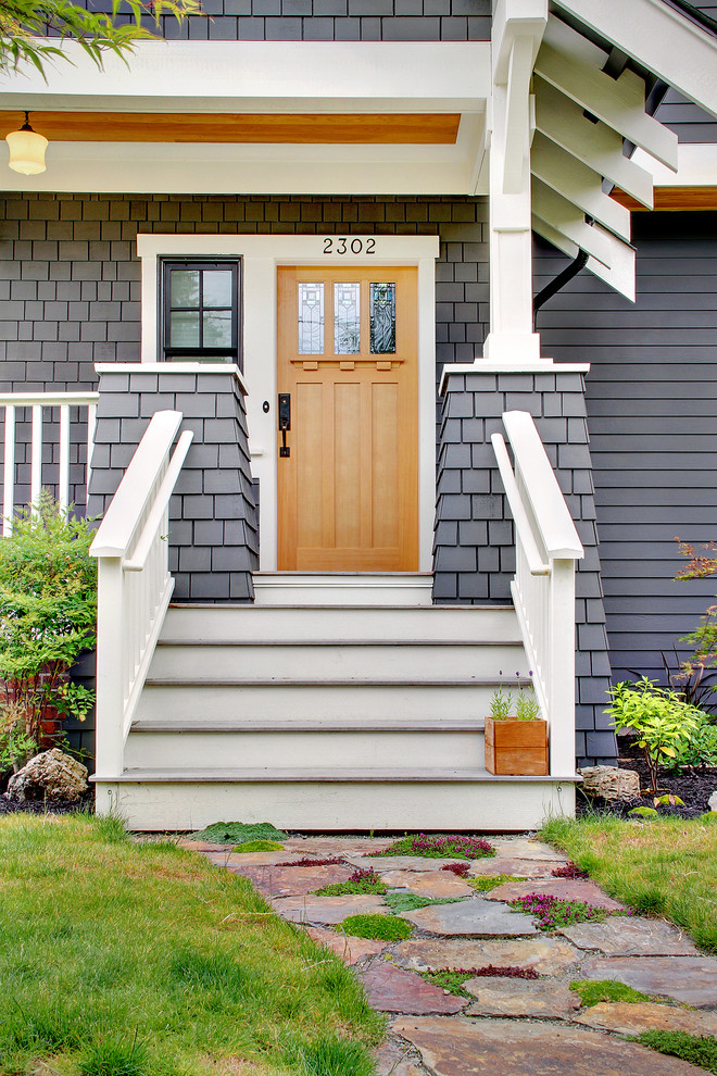 Trim of the mission style interior door must comply with home design