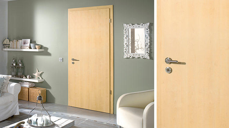 Unfinished maple interior doors is the most popular choice for rustic interiors