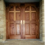 : Wooden entry doors for sale have a warm and solid outlook