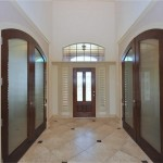 : Interior door slabs with glass for creating a modern style in the interior design