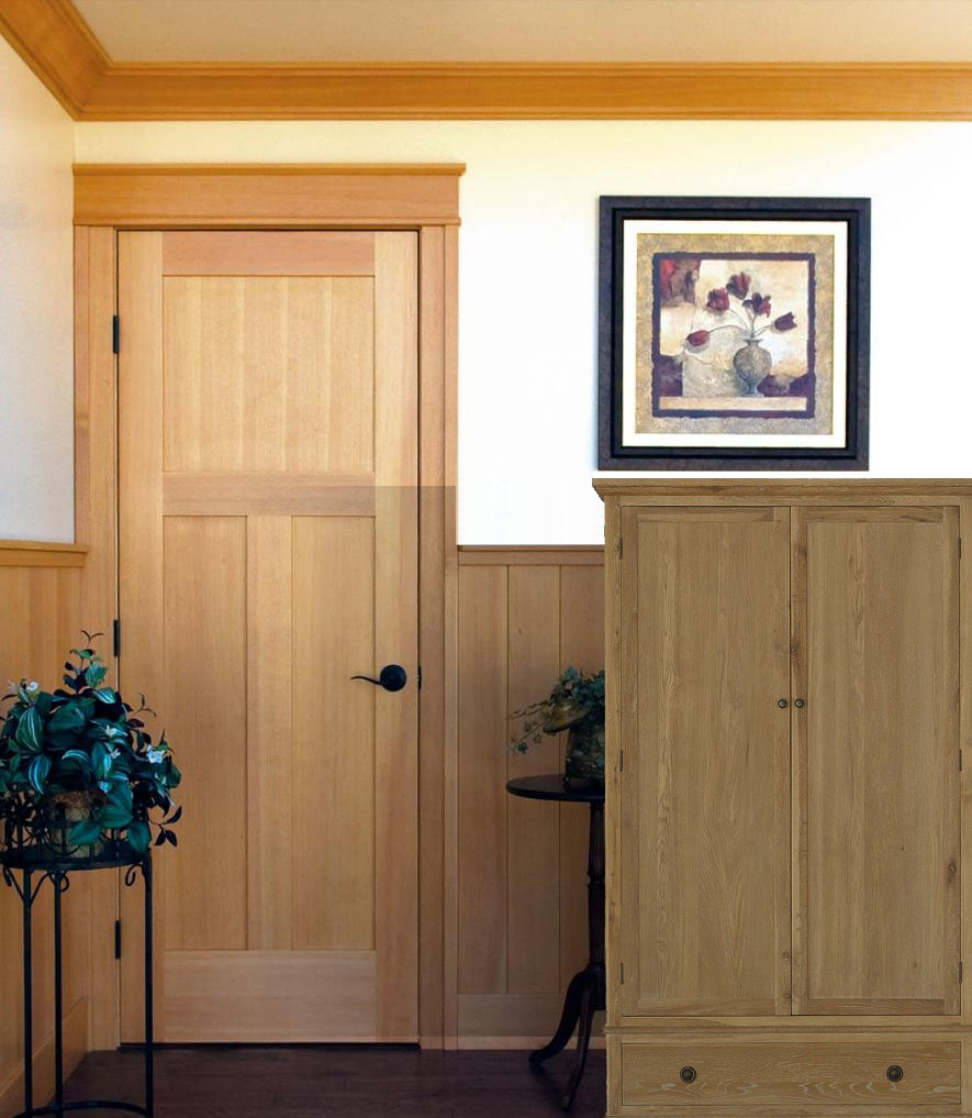Mission style house wood doors fit into any home design