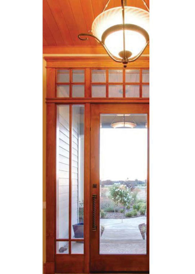 Best entry door with wood and glass