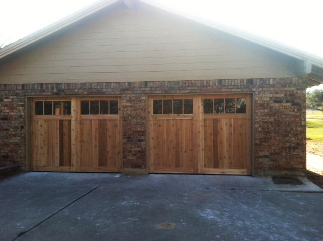Keller Texas window design garage wood doors