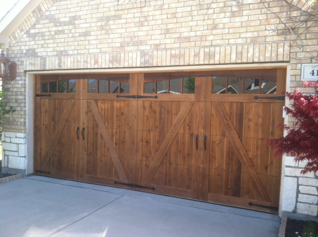 cedar garage door and shutters texas