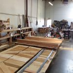 : cedar garage door production