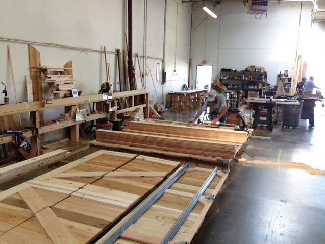 cedar garage door production
