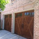 : country style dark cedar door with glass installation texas