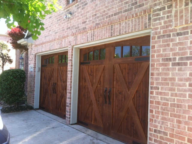 country style dark cedar door with glass installation texas