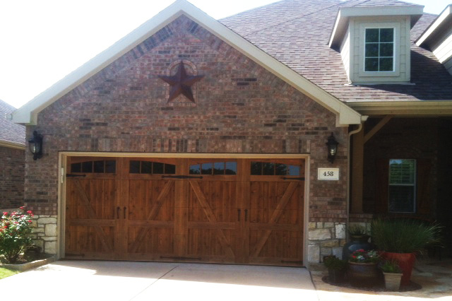 dark wood garage doors old style