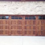 garage cedar door in texas