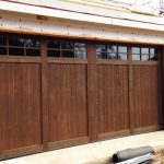 : garage dark cedar doors texas