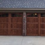 : install dark oak stain garage door