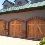 : light color wood garage door