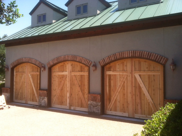 light color wood garage door