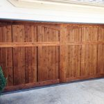 : long wood garage door flower mound