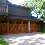 old style wooden garage door
