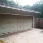 : white cedar garage door in texas