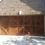 : wood cedar garage door highland village