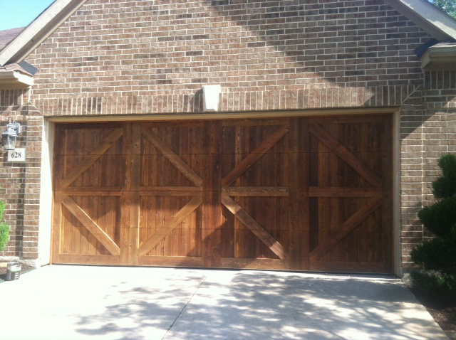 wood cedar garage door highland village