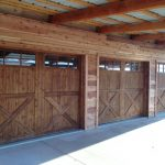 : wood garage doors country style